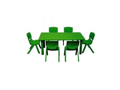 Rectangle Table With 6 Chairs