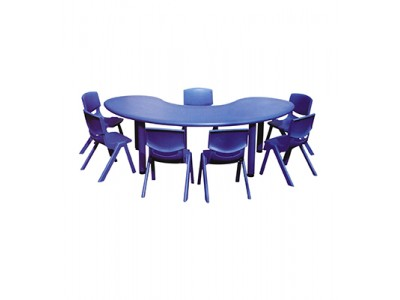 Moon Table With 6 Chairs