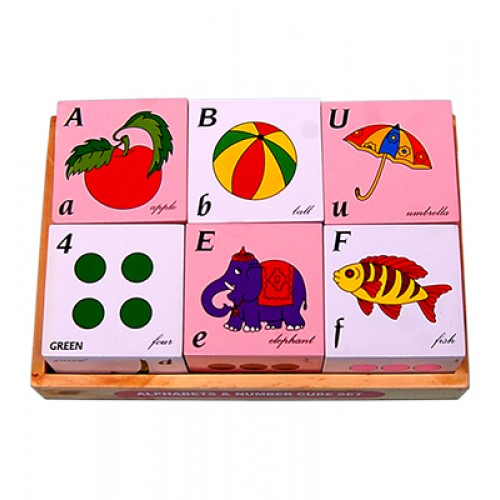 Alphabet And Number Cube Set