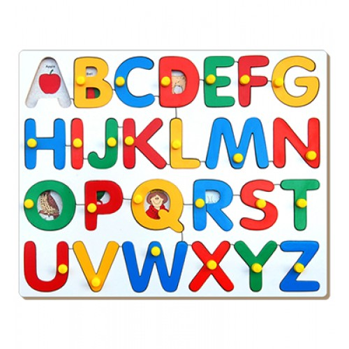 Alphabet Picture Tray (ABC) With Knob