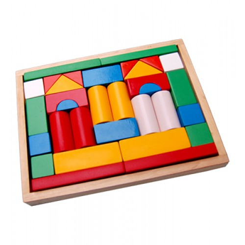 Building Blocks-Small With Wooden Box