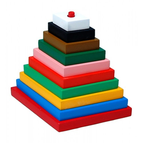 Build-A-Tower-Rhombus (Big-10 Pieces)