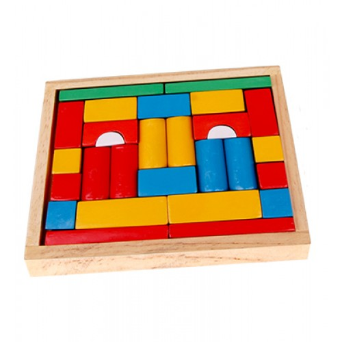 Building Blocks (Set Of 28 Pcs) With Woo...