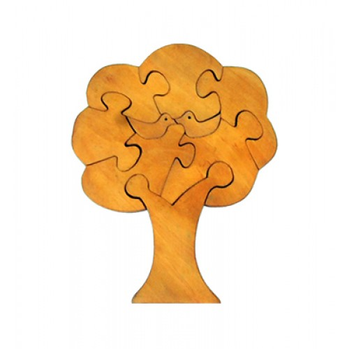 Jigsaw Puzzle-Tree-Natural Finish