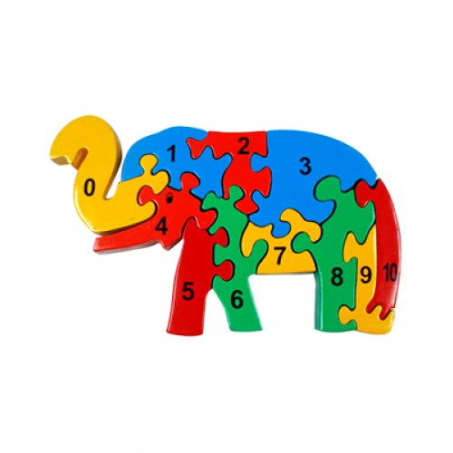 Counting On Elephant Jigsaw-Coloured