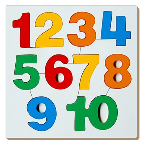 Number Inset Tray Puzzle-1 To 10