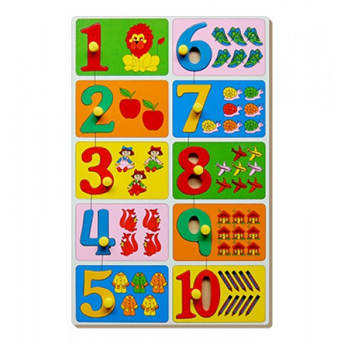 Count & Match Inset Puzzle 1 To 10 W...