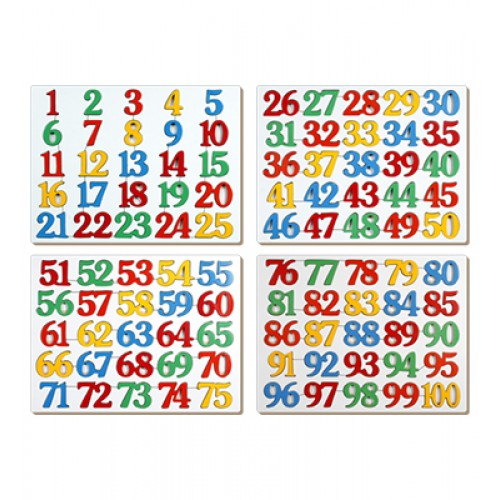 Number Inset Puzzle 1-100
