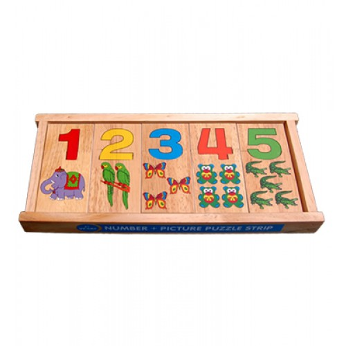 Number Picture Puzzle Strip