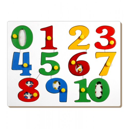 Number Picture Tray With Knob