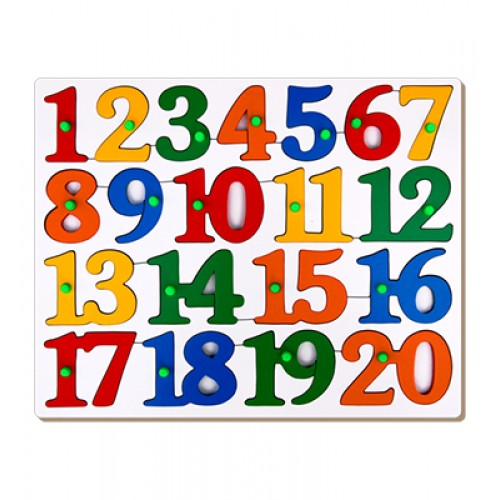 Counting Tray Puzzle - 1 To 20