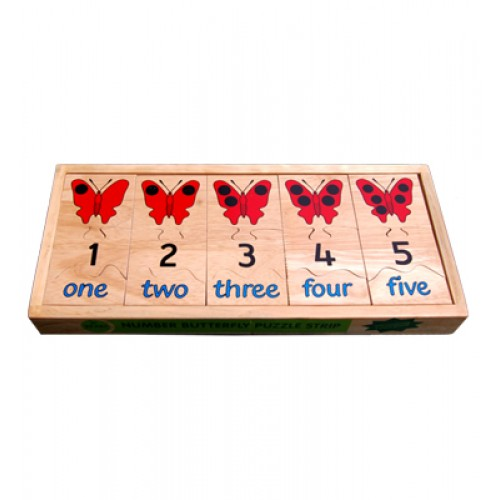 Number Butterfly Puzzle Strip