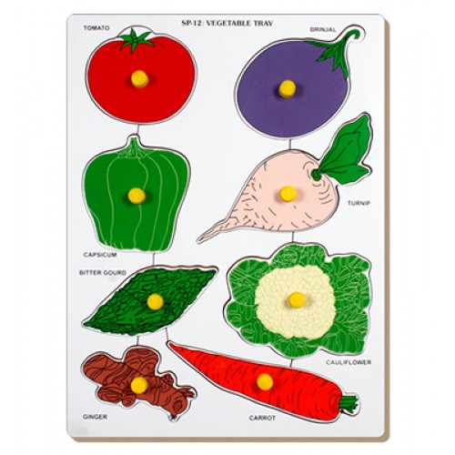 Vegetable-Tomato Tray With Knob